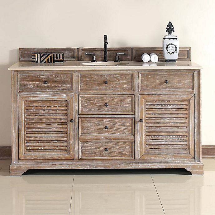 James Martin Furniture Savannah Single Vanity With Galala Stone Top