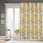 Madison Park Carpis Polyester Shower Curtain in Yellow