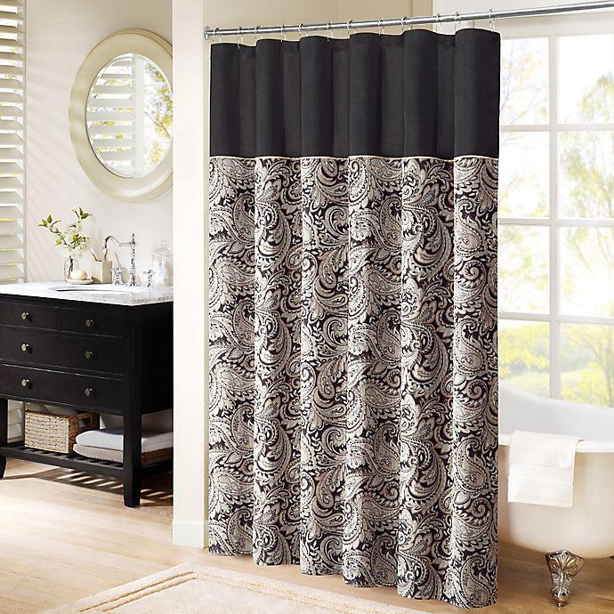Madison Park Aubrey Jacquard Shower Curtain Bed Bath Beyond