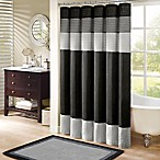 Madison Park Amherst 72-Inch x 72Inch Shower Curtain in Black