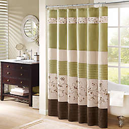 Madison Park Serene 72-Inch x 72-Inch Embroidered Shower Curtain in Green