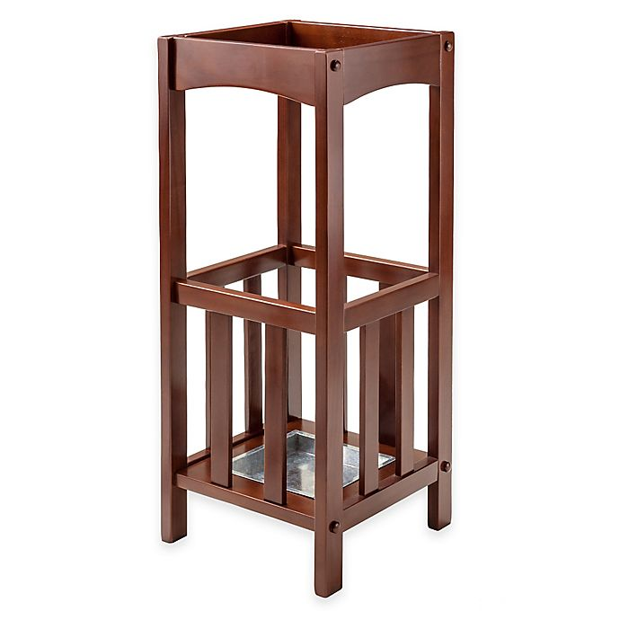 Winsome Trading Rex Umbrella Stand In Walnut Bed Bath Beyond