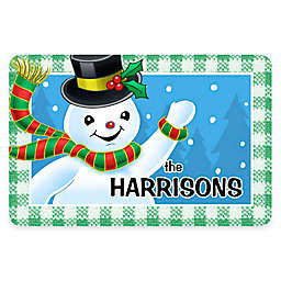 Weather Guard™ 17.5-Inch x 26.5-Inch Waving Snowman Holiday Door Mat