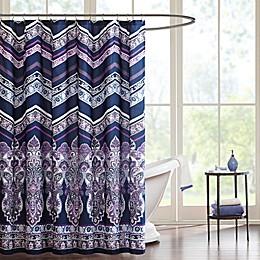 Intelligent Design Adley Shower Curtain in Purple