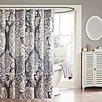 Madison Park Vienna Cotton Shower Curtain in Slate