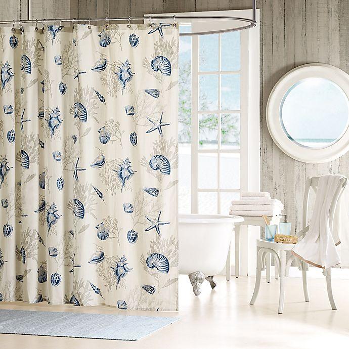 Alternate image 1 for Madison Park Bayside Cotton Shower Curtain