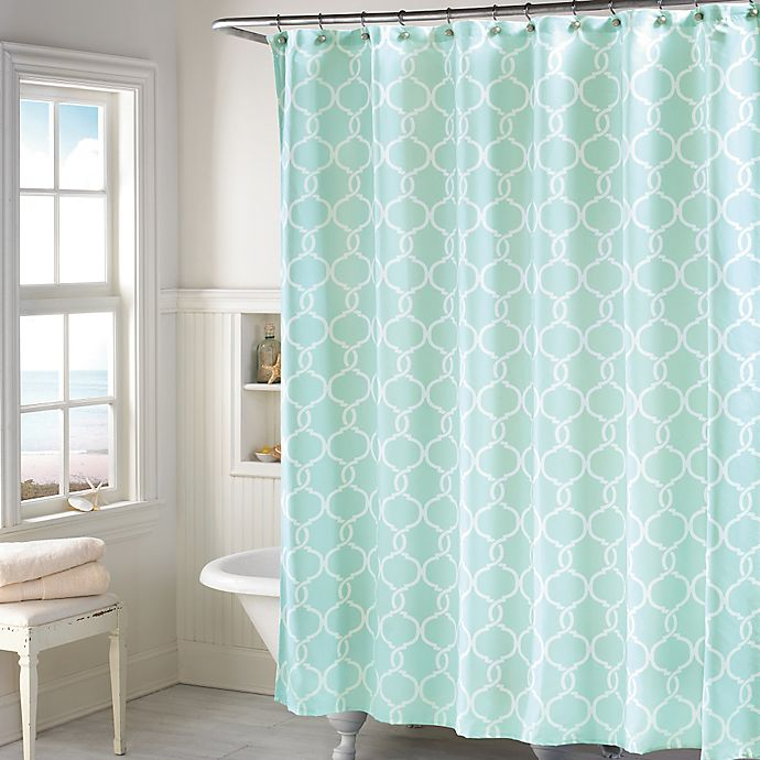 Langley Shower Curtain In Mint