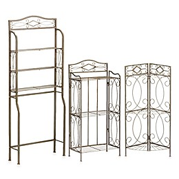 Isabella Bathroom Rack Collection in Pewter