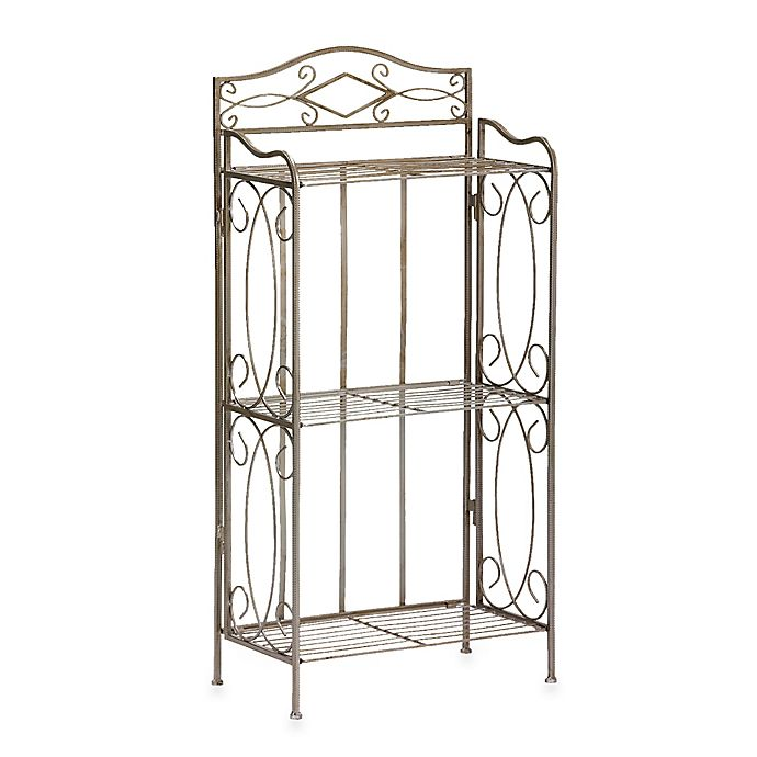 Alternate image 1 for Isabella 3-Tier Bathroom Rack in Pewter