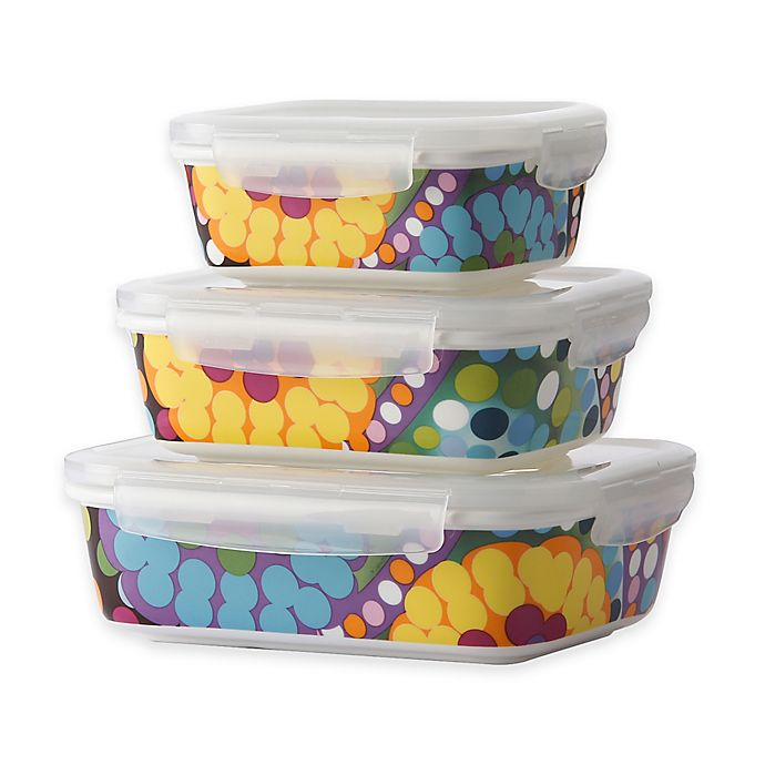 Alternate image 1 for French Bull® Bindi Porcelain Storage Containers (Set of 3)