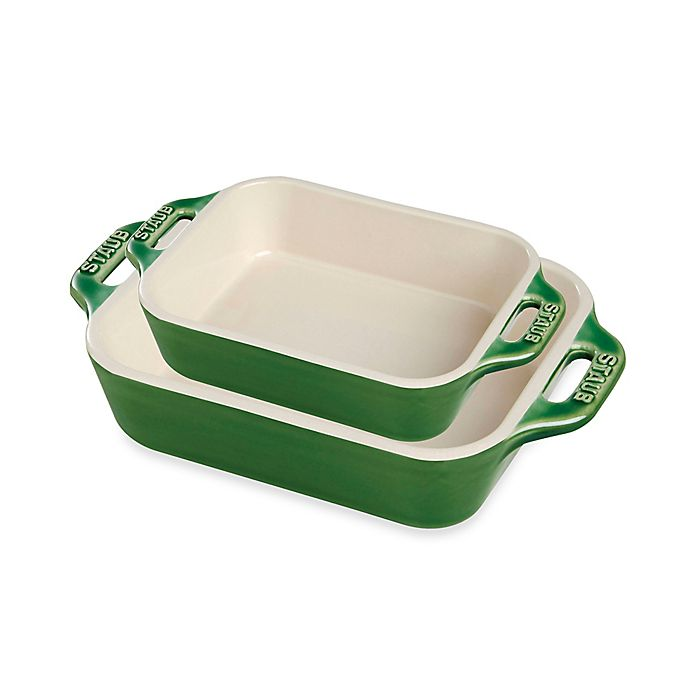 Alternate image 1 for Staub Rectangular Ceramic Baking Dishes (Set of 2)