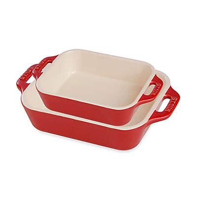 Staub Rectangular Ceramic Baking Dishes (Set of 2)