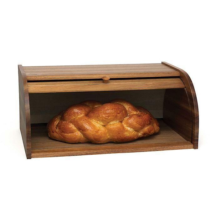 Alternate image 1 for Lipper Acacia Rolltop Bread Box
