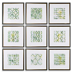 Uttermost Metrics Links 9-Piece Geometric Wall Art Prints