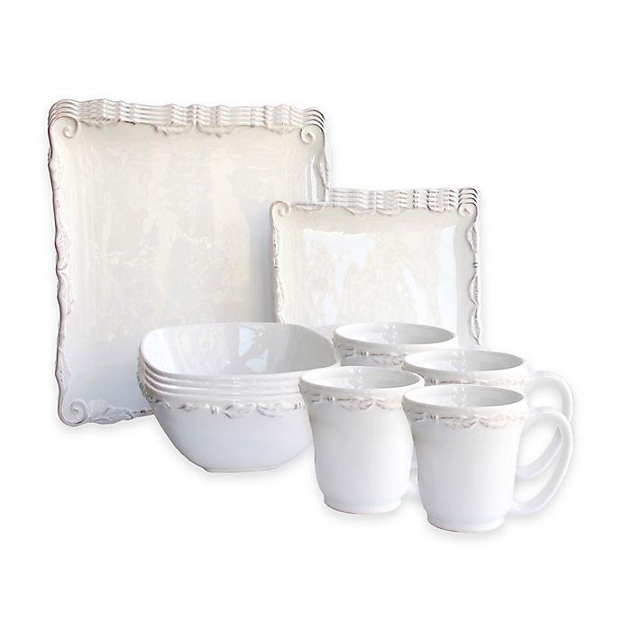 Alternate image 1 for American Atelier Bianca Wave 16-Piece Dinnerware Set