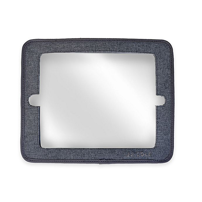 Alternate image 1 for JJ Cole® 2-in-1 Headrest Car Back Seat Mirror with Grey Heather Frame
