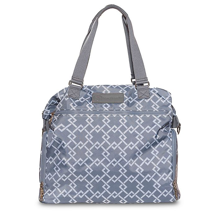 Alternate image 1 for Sarah Wells® Lizzy Breastpump Bag in Grey Chain Link