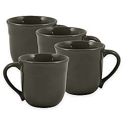 Emile Henry Mugs in Charcoal (Set of 4)