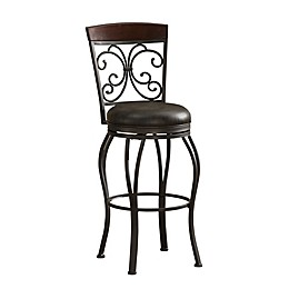American Heritage Amelia Swivel Stool in Pepper