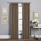 Spellbound Pinch-Pleat 84-Inch Rod Pocket Lined Window Curtain Panel in Mocha