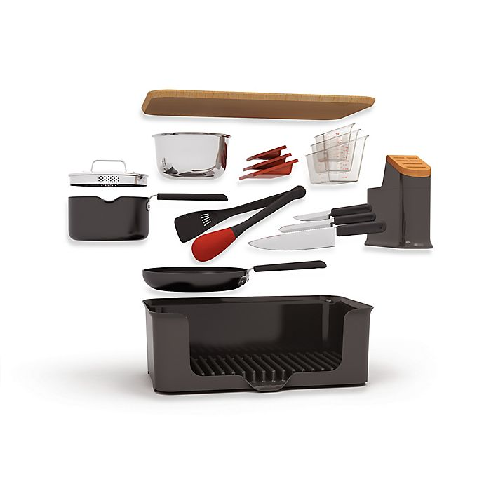 Alternate image 1 for Kitchen in a Box 14-Piece Set in Black