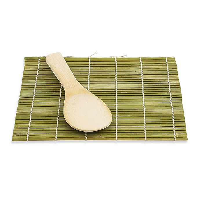 Alternate image 1 for Helen's Asian Kitchen® Bamboo Sushi Mat and Paddle Set