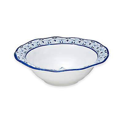 Q Squared Talavera Azul Serving Bowl in White/Blue