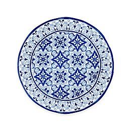 Q Squared Talavera Azul Platter in White/Blue