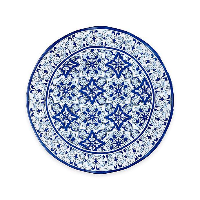 Alternate image 1 for Q Squared Talavera Azul Platter in White/Blue