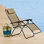 Multi-Position Relaxer Zero Gravity Chair in Tan