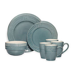 Pfaltzgraff 16-Piece Antigua Blue Dinnerware Set