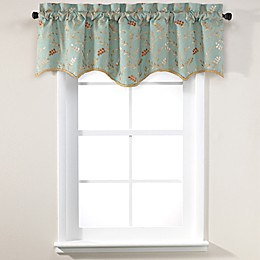 Gardner 18-Inch Lined Window Valance in Blue