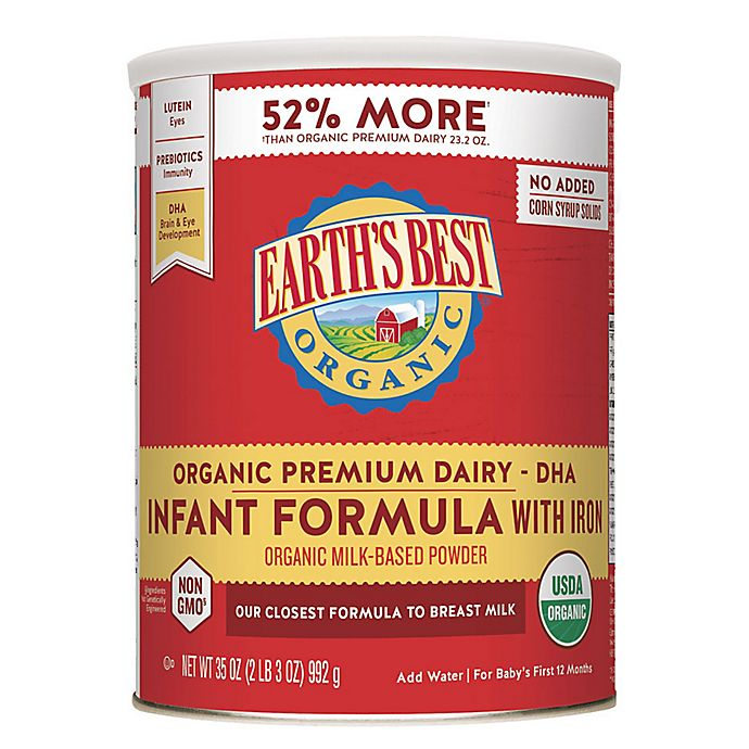Alternate image 1 for Earth's Best® Organic 35 oz. Infant Formula with DHA & ARA and Iron