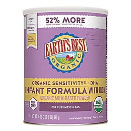 Earth's Best® Organic 35 oz. Sensitivity® Infant Formula with DHA & ARA and Iron