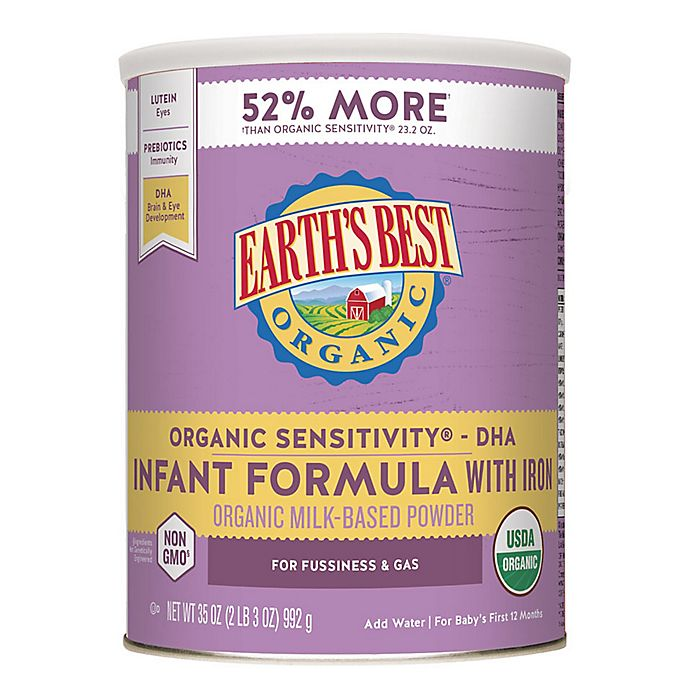 Alternate image 1 for Earth's Best® Organic 35 oz. Sensitivity® Infant Formula with DHA & ARA and Iron