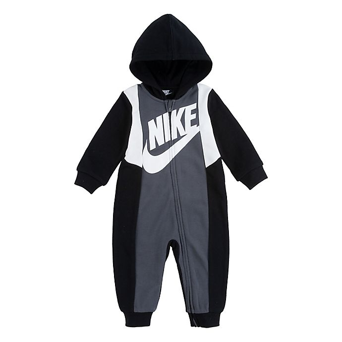 Alternate image 1 for Nike® Amplify Hooded Coverall in Black/Grey