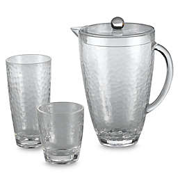 Hammered Clear Acrylic Drinkware