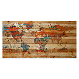 Parvez Taj Global Warming Natural Pine Wood Wall Art