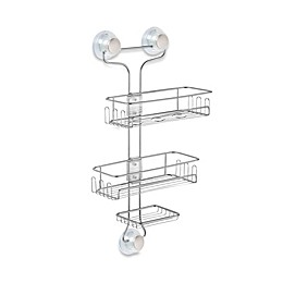 iDesign® Turn-N-Lock 3-Tier Suction Shower Caddy