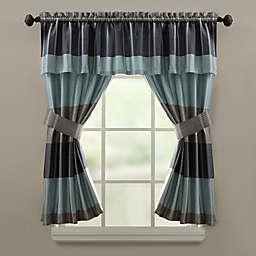 Croscill® Fairfax Bath Window Curtain Valance in Slate