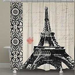 Laural Home® Eiffel Tower Border Shower Curtain