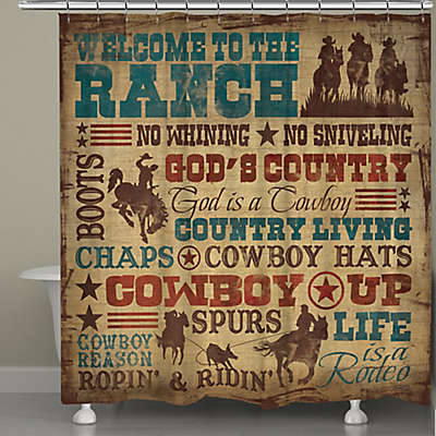 """Laural Home® """"Welcome to the Ranch"""" Shower Curtain"""