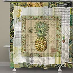 Laural Home® Pineapple Scrapbook Shower Curtain