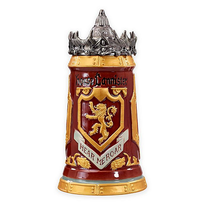 65e253490b3 Game of Thrones House Lannister Stein | Bed Bath & Beyond