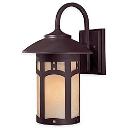 Minka Lavery® Harveston Manor 14.75-Inch 1-Light Wall-Mount Outdoor Lantern in Bronze