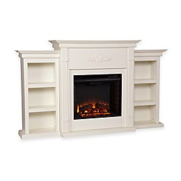 Southern Enterprises Tennyson Electric Fireplace with Bookcases
