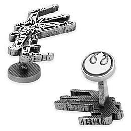 Star Wars™ Silver-Plated X-Wing Etched Cufflinks