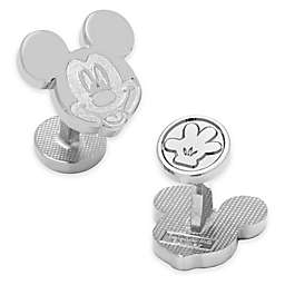 Disney® Silver-Plated Mickey Mouse Face Cufflinks