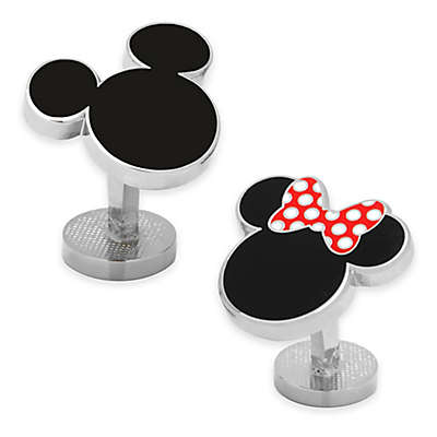 Disney® Enamel Mickey Mouse and Minnie Mouse Silhouette Cufflinks