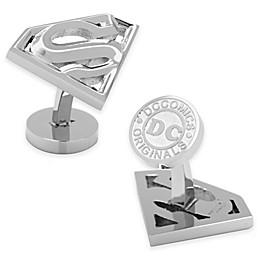 Stainless Steel Superman Shield Cufflinks
